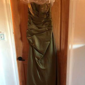 David's bridal, olive green bridesmaids dress